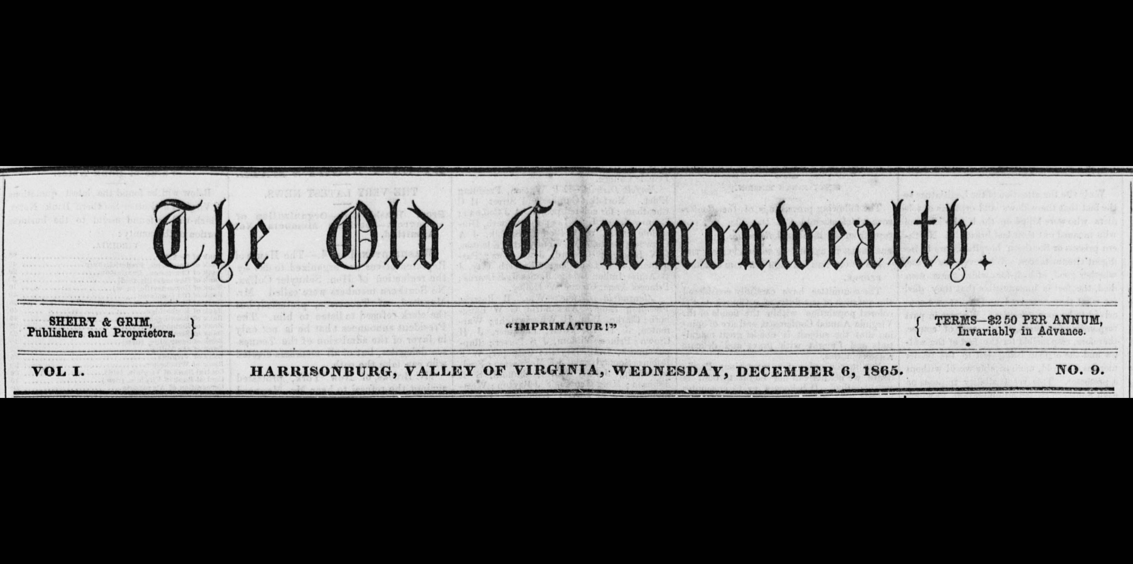 Old Commonwealth, 1865-1884