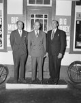 Three men standing in front of William's Store. Presumably owners or employees. Broadway, Va.