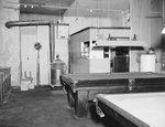 Billiard tables inside of Dominion Lunch Restaurant. New Market, Va. by William Garber