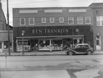 Storefront view of Ben Franklin Arts and Crafts Store, Woodstock, Va. by William Garber