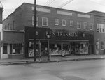 Storefront view of Ben Franklin Arts and Crafts Store, from a diagonal angle. Woodstock, Va. by William Garber