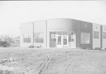 Front view of Timberville Department Store, under construction. Timberville, Va. by William Garber