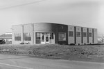 Front view of Timberville Department Store, under construction, alternate view. Timberville, Va. by William Garber