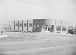 Front view of Timberville Department Store, under construction, alternate view. by William Garber