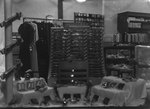 Inside of New Market Department Store, display of belts by William Garber