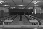 Inside of a bowling alley. by William Garber