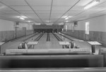 Inside of a bowling alley, a view from further back by William Garber