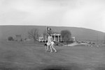Two women playing golf at the Shenvalee Hotel and Golf Resort, New Market, Va. by William Garber