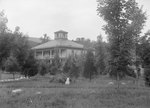 Shenandoah Alum Springs Hotel, view of one of the smaller buildings with a bell tower. Orkney Springs, Va. by William Garber