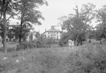 Shenandoah Alum Springs Hotel, distant view with two people walking towards it. Orkney Springs, Va. by William Garber