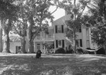 Wissler House, view from the side, dog pictured sitting in the yard. by William Garber