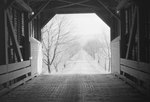 View of a road from the inside of Meem's Covered Bridge by William Garber
