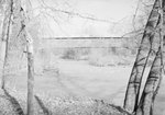 Side view of Meem's Covered Bridge and the river it crosses by William Garber