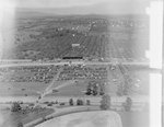 Horse track and parking at the Shenandoah County Fairgrounds. Woodstock, Va. by William Garber
