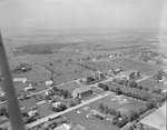 A number of large buildings, probably of the Eastern Mennonite University campus. Harrisonburg, Va.