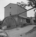 Mt. Jackson Mill, distant view from the side. Mt. Jackson, Va. by William Garber