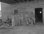Group of men posing at the Mt. Jackson Mill. by William Garber