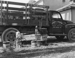 Company truck for the Grabole Company: Roofing and Spray Painting Contractors by William Garber