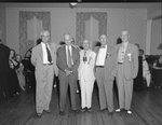 Spanish War Veterans Reunion, Orkney Springs Hotel; five men in suits posing for the camera by William Garber
