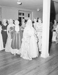 Spanish War Veterans Reunion, Orkney Springs Hotel; a large group of finely dressed men and women in a large hall or room by William Garber