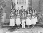 Group photo of the members of the Timberville (High) School band. by William Garber