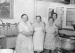Broadway (High) School, the cafeteria workers in the kitchen.