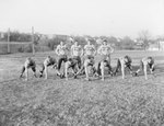Massanutten Military Academy. Members of the football team on the field practicing