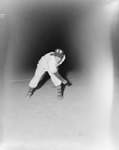 Baseball player of the New Market team throwing a ball in a game against the Harrisonburg Turks by William Garber
