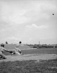 Baseball catcher and batter playing a game