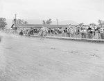 A horse race at the Shenandoah County Fair
