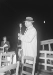 Timberville Horse Show, a man standing at a microphone