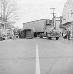 Accident involving a tractor-trailer and a pick-up truck, in front of The Valley Shop by William Garber