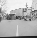 Accident involving a tractor-trailer and a pick-up truck, in front of The Valley Shop. by William Garber