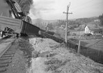 Train wreck, view from the railroad tracks by William Garber