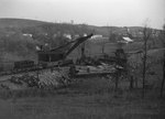 Train wreck site, view from the top of a hill by William Garber