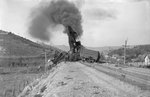 Train wreck, view from a distance on the railroad tracks by William Garber
