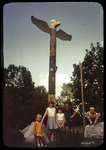 Kids at the Totum Pole in Hillandale Park by James Madison University