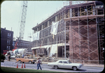 Harrison Plaza under construction, seen from Post Office north yard by James Madison University