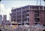Harrison Plaza under construction, looking east from W. Elizabeth by James Madison University