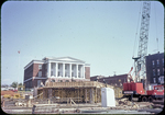 Harrison Plaza under construction, Post Office in background by James Madison University