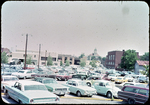 View of Free Parking Lot from behind Municipal Building, looking north by James Madison University