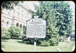 """Harrisonburg"" Historic marker in Court Square by James Madison University"