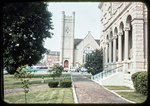 Presbyterian Church and Court House Lawn, July '76 by James Madison University