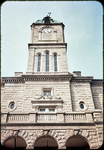 Rockingham County Court House - close up of clock tower by James Madison University