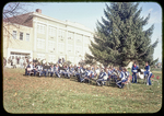 HHS Band in front of Thomas Harrison Junior High