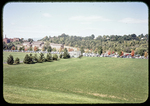 View of JMUs practice (soccer) field; Cantrell Ave and new dorms in background by James Madison University