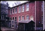 Back of old apartments on W. Elizabeth by James Madison University
