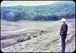 Switzer Dam under Construction- Mayor Erickson viewing