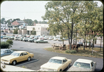 """View of """"free parking"""" lot and buggy hitching post by James Madison University"""