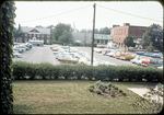 """View of """"free parking"""" lot behind Municipal Building by James Madison University"""